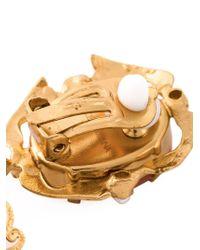 Dolce & Gabbana - Metallic Cameo Pearl Earrings - Lyst
