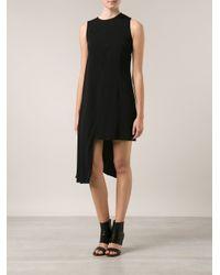 MM6 by Maison Martin Margiela Black Asymmetrical Dress