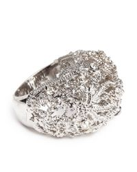 Alexander McQueen | Metallic Crystal Filigree Dome Ring | Lyst