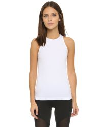 Theory | White Spike Kint Leen Tank - Black | Lyst
