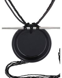 Tom Rebl - Black Porcelain Disk Shaman Necklace for Men - Lyst