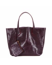 MZ Wallace Purple Jf Tote Currant Leather