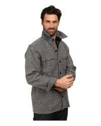 Woolrich | Gray Wool Stag Shirt Jacket for Men | Lyst