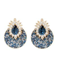 Shourouk | Blue Luna Comet Earrings in Montana | Lyst