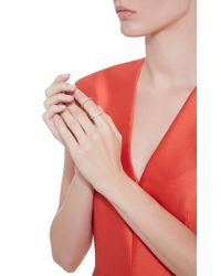 Fallon - Pink Rose Gold Pavé Infinity Ring - Lyst