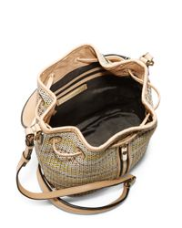 Elizabeth And James Cynnie Mini Woven Raffia Amp Leather