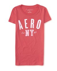 Aéropostale | Pink Aero Ny Graphic T | Lyst
