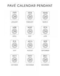 BaubleBar - Metallic Diamond Calendar Pendant - Lyst