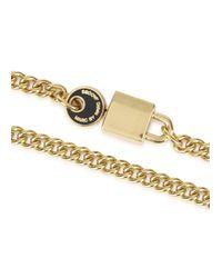 Marc By Marc Jacobs - Metallic Lock In Black Gold Tone Bracelet - Lyst