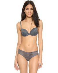 Cosabella - Gray Minoa Beautie Lace Cup Push Up Bra - Lyst