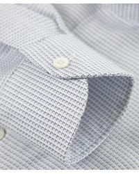 Corneliani | Blue Square Print Shirt for Men | Lyst