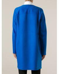 Jil Sander Blue Structured Coat