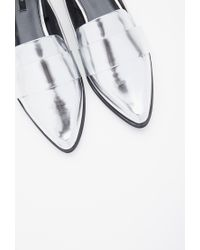 Forever 21 Metallic Faux Leather Pointed Loafers