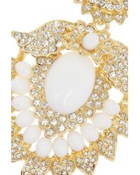 Kenneth Jay Lane - White Goldplated Cabochon Necklace - Lyst