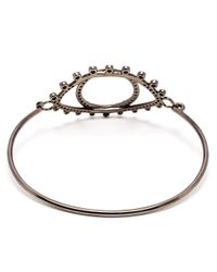 Rosa De La Cruz - Metallic 18K Oxidised Gold And Brown Diamond Bracelet - Lyst