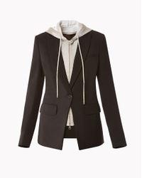 Veronica Beard | Black Long And Lean Jacket | Lyst
