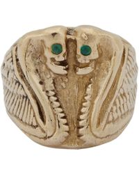 Suzannah Wainhouse Jewelry Metallic Winged Serpent Ring