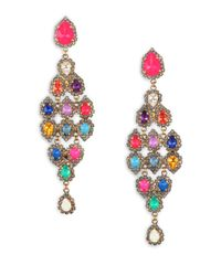 Erickson Beamon | Multicolor Telepathic Crystal Pear Cascade Chandelier Earrings | Lyst