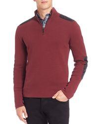 Victorinox - Red Lieutenant Quarter-zip Pullover Sweater for Men - Lyst