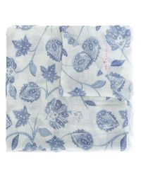 Kiton - Blue Printed Scarf for Men - Lyst