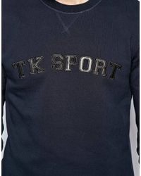 The Kooples Sport Blue Sweatshirt with Logo Applique for men