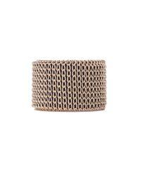 AKIRA - Metallic Chain Wrap Vegan Leather Bracelet - Lyst