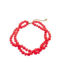 kate spade new york | Pink Give It A Swirl Twisted Necklace | Lyst