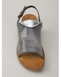 Silvano Sassetti - Gray Buckled Sandals - Lyst
