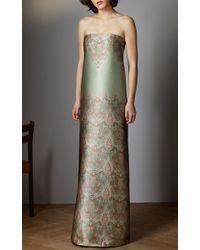Vilshenko - Green Maddison Strapless Long Dress - Lyst