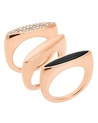 Michael Kors | Pink Rings, Set Of 3 | Lyst