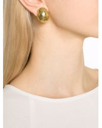 Vaubel | Metallic Ridged Ball Earrings | Lyst