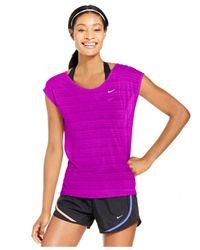 Nike - Pink Cool Breeze Dri-fit Cap-sleeve Tee - Lyst