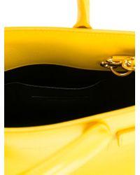 Saint Laurent Yellow Nano 'sac De Jour' Tote