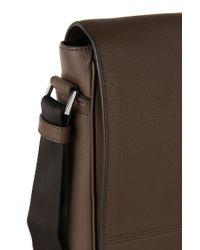 BOSS   Brown Leather Shoulder Bag: 'traveller_mess Flap' for Men   Lyst