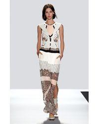 BCBGMAXAZRIA - Black Runway Natasha Silk Dress - Lyst