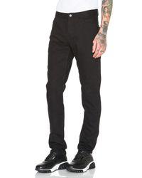Alexander Wang Black Leather Back Pocket Jeans