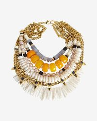 Lizzie Fortunato - Metallic Gold Pavilion Necklace - Lyst