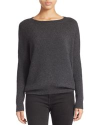 Lord & Taylor | Gray Cashmere Sweater | Lyst
