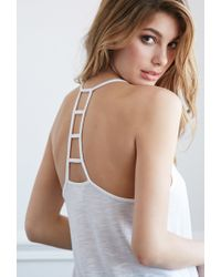 Forever 21 | White Ladder-back Slub Knit Tank | Lyst