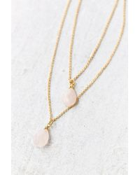 Urban Outfitters - Pink Stones Of The Valley Layered Necklace - Lyst