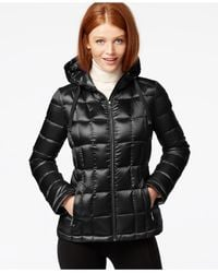 Calvin Klein | Black Metallic Packable Down Puffer Coat | Lyst