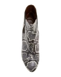 Isabel Marant | Black Danae Snake-effect Leather Ankle Boots | Lyst