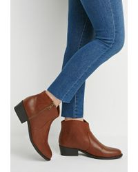 Forever 21 | Natural Classic Heeled Booties | Lyst