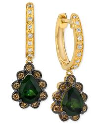 Le Vian - Chocolatier 50 Shades Of Green™ Green Tourmaline (1-1/5 Ct. T.w.) And Diamond (1/3 Ct. T.w.) Earrings In 14k Gold - Lyst