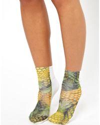 ASOS | Multicolor Pineapple Printed Ankle Socks | Lyst