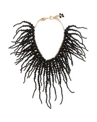 Rosantica | Black Anemone Gold-Dipped Onyx Necklace | Lyst