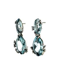 Alexis Bittar | Blue Midnight Marquis Drop Post Earring | Lyst