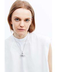 Vivienne Westwood | Metallic Radha Bas Relief Pendant Silver Necklace | Lyst