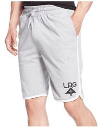 LRG | Gray Big And Tall Logo Shorts for Men | Lyst