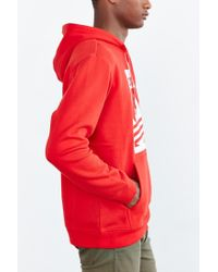 Adidas - Red Originals Box Trefoil Hoodie Sweatshirt for Men - Lyst